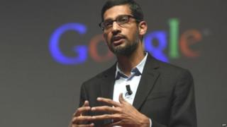 गूगल के मुख्य कार्यकारी अधिकारी सुंदर पिचई
