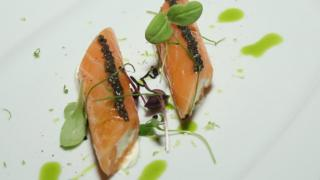 File image of salmon on a plate