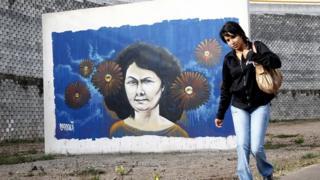 Mural de Berta Cáceres en Tegucigalpa, Honduras