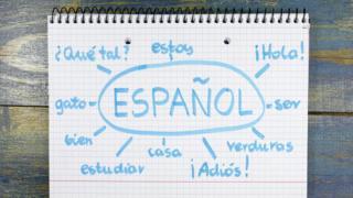 Palabras en español.