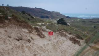 Sand dunes at St Brelade