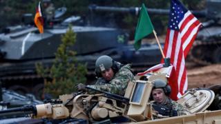 NATO trupe tokom vežbe održane sredinom godine