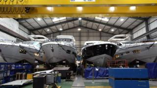 Sunseeker boatyard in Poole