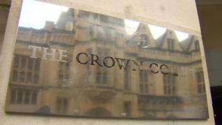The Crown Court sign