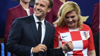Kolinda Grabar-Kitarović da Emmanuel Macron