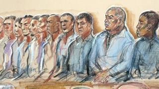 Рисунок обвиненных в педофилии жителей Манчестера