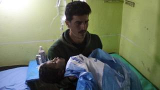 مصابون في خان شيخون