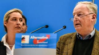 AfD leaders Alice Weidel (L) and Alexander Gauland, 15 Jan 19