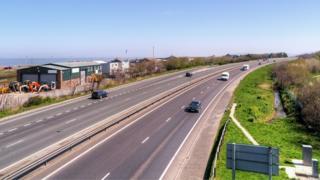 The A55 between Pensarn and Bangor