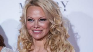 Pamela Anderson on a red carpet