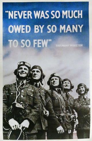 Плакат з словами Черчилля