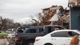 28 декабря 2015 года: последствия очередного торнадо - на сей раз в техасском Гарленде