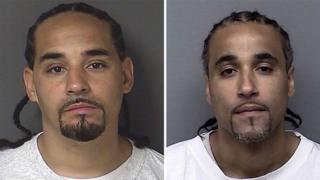 Richard Anthony Jones (sağda) Ricky Amos (solda) adlı zanlıya benzerliği nedeniyle 17 yıl boyunca hapis yattı.