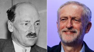 Clement Attlee and Jeremy Corbyn