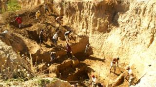 The bones were found at Christmas River in Madagascar
