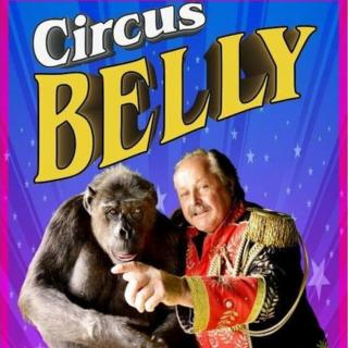 A poster of circus belly in which Robby performs. The chimp poses alongside ringmaster Klaus Köhler