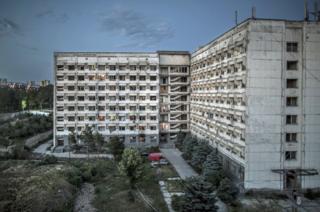 Una vista exterior del edificio