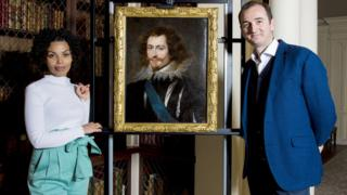 Dr Bendor Grosvenor and Emma Dabiri with portrait