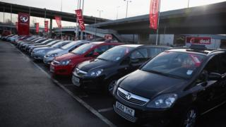 Vauxhall car lot