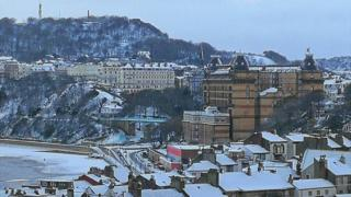 Scarborough dusted with snow