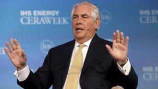 Rex Tillerson at an energy conference in 2015