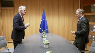 Michel Barnier and Donald Tusk