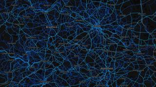 West Yorkshire - cycling routes (by Strava users 2015)