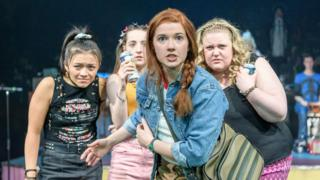 Some of the cast of Our Ladies of Perpetual Succour