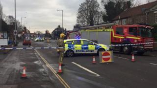 Dereham Road in Norwich cordoned off