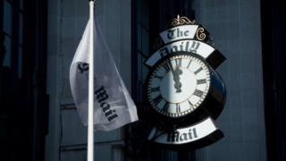 The Daily Mail flag and clock