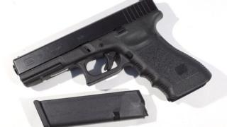 A Glock handgun