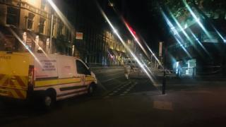 Police cordon in Fletcher Gate