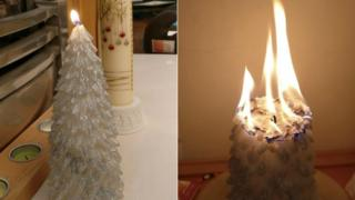 Primark candle burning uncontrollably