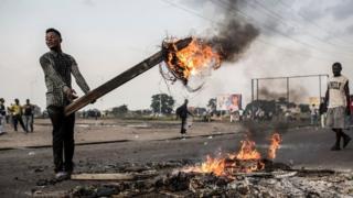 Protester in Kinshasa