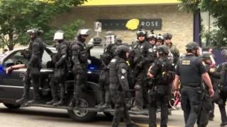 Police in Portland 17 Aug 19