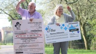 Previous lottery winners Jim and Maureen Emerton, from Sleaford, Lincolnshire