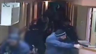 CCTV still from raid on al-Ahli hospital
