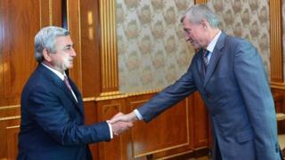 Nikolay Bordyuja və Ermənistan prezidenti Serj Sarkisyan