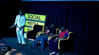 Pidgin session inside Social Media Week Accra