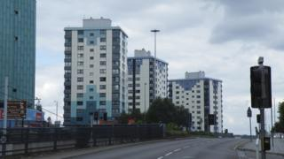 Tower blocks in Sheffield