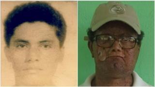 Deíde Freire de Andrade aos 18 anos e nos tempos atuais