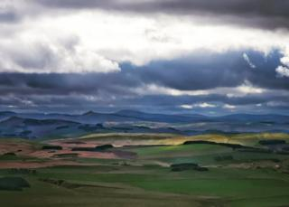 Stewart Beattie sent in this photo of the view from Ruberslaw, near Hawick, in the Scottish Borders