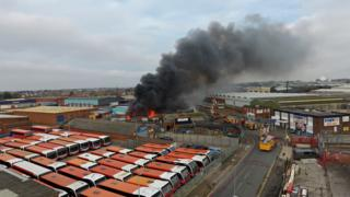 Fire on an industrial estate