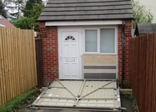 Dwelling inside garage