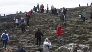 Visitors at Giant's Causeway