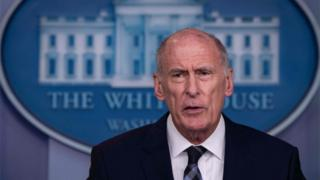 Dan Coats speaking at White House