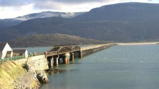 Barmouth viaduct and footbridge