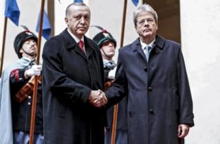 Cumhurbaşkanı Recep Tayyip Erdoğan ve İtalya Başbakanı Paolo Gentiloni