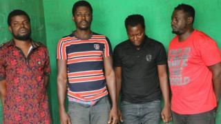 Di four police men wey chop sack na Sgt Adeoye Adekunle, Sgt Adenira Adebowale, Sgt Agbi Lucky , Sgt Odighe Hehosa.