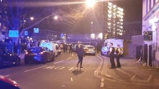 Scene of Kentish Town stabbing